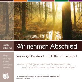 """Titel der Broschüre """"Wir nehmen Abschied"""" Ausgabe Marzahn-Hellersdorf"""