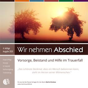 """Titel der Broschüre """"Wir nehmen Abschied"""" Ausgabe Pankow"""