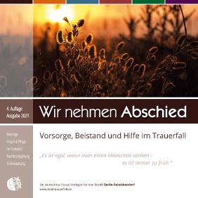 """Titel der Broschüre """"Wir nehmen Abschied"""" Ausgabe Reinickendorf"""
