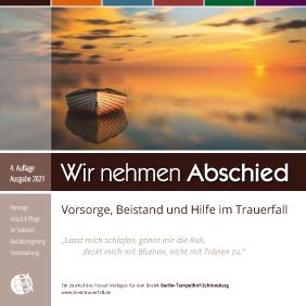 """Titel der Broschüre """"Wir nehmen Abschied"""" Ausgabe Tempelhof-Schöneberg"""